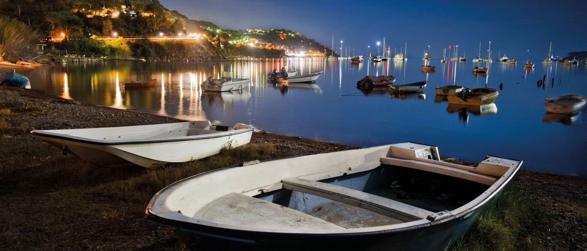 Small harbour at night Italy 170030233 4256x2832